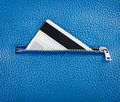 Unzip leather wallet with card credit Royalty Free Stock Photos