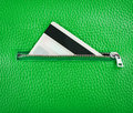 Unzip leather wallet with card credit Royalty Free Stock Photo