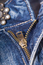 Unzipped jeans Royalty Free Stock Images