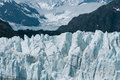 Up close view of Margerie Glacier at Glacier bay national park Royalty Free Stock Photo