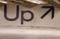 Up sign with an arrow on a concrete wall Royalty Free Stock Photos