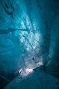 Up there inside an ice cave in an icelandic glacier Stock Image