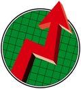 Up Trend Arrow Royalty Free Stock Photo