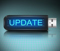Update concept illustration depicting a usb flash drive with an Stock Photography
