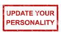 Update your personality stamp isolated on white background Royalty Free Stock Image