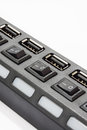 Uper view of black usb hub Royalty Free Stock Photo