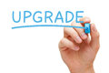 Upgrade Blue Marker Royalty Free Stock Photo