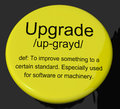 Upgrade Definition Button Showing Software Update Or Installatio Stock Photography