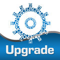 Upgrade Dotted Gear Blue Square