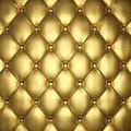 Upholstery golden leather d illustration Royalty Free Stock Images
