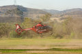 Upland Fire Department helicopter Royalty Free Stock Photo