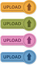 Upload button leather buttons with arrow icon vector illustration Stock Photo