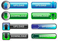 Upload / Download Buttons Stock Photography