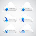 Upload-Download Cloud button Stock Images