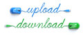 Upload download concept Stock Afbeelding
