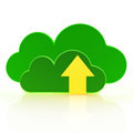 Upload to the cloud computing concept on a white background Royalty Free Stock Images