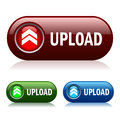 Upload vector button Royalty Free Stock Photo
