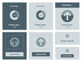 Upload vector interface illustration set of modern minimalistic web widget Royalty Free Stock Photos