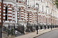 Upmarket London houses apartments Royalty Free Stock Photo