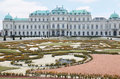 Upper Belvedere with pond in Vienna Royalty Free Stock Photo