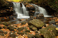 Upper Chapel Falls in Autumn Stock Photography