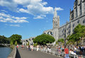 Upper church in Lourdes Royalty Free Stock Image