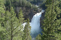 Upper falls grand canyon of the yellowstone np Stock Photo