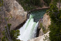 Upper falls the at yellowstone national park Stock Photography