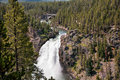 Upper falls of yellowstone national park wyoming Stock Photography