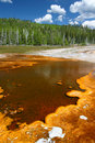 Upper Geyser Basin of Yellowstone Stock Photography