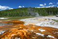 Upper Geyser Basin of Yellowstone Stock Image