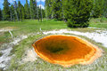 Upper Geyser Basin of Yellowstone Stock Photo