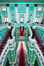 Upper hall in russian palace Stock Images