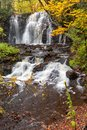 Upper Hungarian Falls near Calumet Michigan, USA Royalty Free Stock Photo