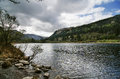 Upper lake in glendalough valley wicklow Stock Photo