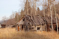 Upper Okanogan Highlands Old Homestead. Royalty Free Stock Photo