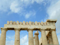 The Upper Part and the Columns of the Parthenon, Acropolis of Athens Royalty Free Stock Photo