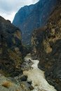 The upper reaches of the yangtze river flows though lofty and precipitous peaks in yunnan province color water is just Stock Image