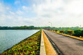 Upper seletar water reservior at the area in singapore Stock Image