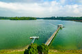 Upper seletar water reservior at the area in singapore Royalty Free Stock Photo