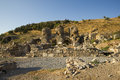 Upper street ancient city of ephesus on the western coast asia minor the territory turkey Royalty Free Stock Photography