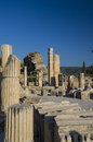 Upper street ancient city of ephesus on the western coast asia minor the territory turkey Royalty Free Stock Photos
