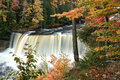 Upper Tahquamenon water falls Royalty Free Stock Photos