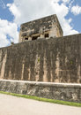 Upper Temple of the Jaguar top of the South end of the East Wall of the Great Ball Court, Chichen Itza Royalty Free Stock Photo