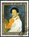 Upper volta shows self portrait by pablo circa a stamp printed in picasso circa Stock Photos