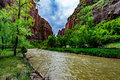 Upper Zion National Park, Utah. Royalty Free Stock Photo