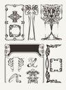 Uppsättning av tappning art deco design elements Royaltyfri Bild