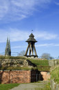 Uppsala old wooden belfry at the castle hill Royalty Free Stock Photo
