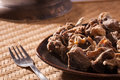 Uppu kandam or dried mutton from india sun and marinated with just the right amount of sea salt Royalty Free Stock Photo
