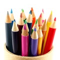 Upright colored pencils Stock Photos